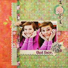 *That Face* BasicGrey SWEET THREADS - Scrapbook.com