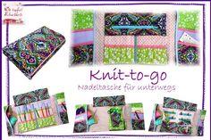 Taschen - Nadeltasche *Knit-to-go* Stricken&Häkeln un... - ein Designerstück von dietapfereschneiderin bei DaWanda