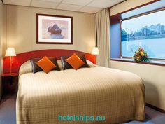 Cabin abboard the luxurious rivercruiser MPS Verdi.