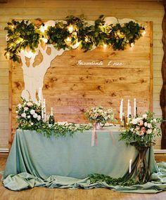 Custom backdrops make a huge statement for your wedding reception... #backdrop #wedding #sweethearttable #decor #ideas #pallet #wood #Mint #greenery #weddingdecoration