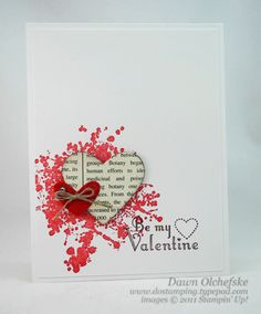 Buy a punch shape. Punch shapes from old books or music. Make cards for all occasions. Use packages of envelopes and blank cards from craft stores.