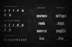 Pindunk Typeface + Extrass by Tamavocks on @creativemarket