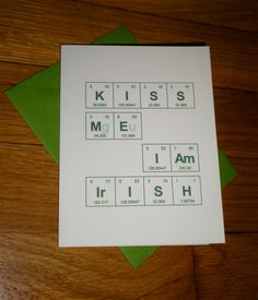 This card depicts the elements of a hero using chemical symbols from periodic table of the elements kiss me i am by thebirdandthebeard 300 urtaz Choice Image