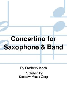 Concertino for Saxophone & Band