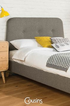 Hemingway king size fabric bedstead