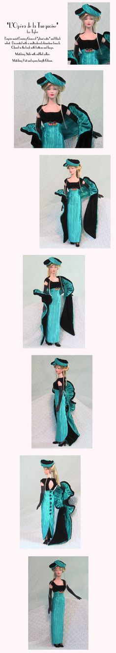 MHD Designs - Opera of Turquoise; love the stole.