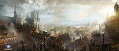 Sur les toits de Paris...., Ludovic Ribardiere on ArtStation at http://www.artstation.com/artwork/sur-les-toits-de-paris