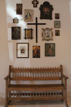 Hacienda with Mexican Religious Folk Art