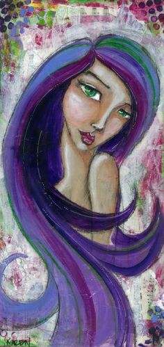 Original Painting Katherine by CoolMamaCrafts on Etsy