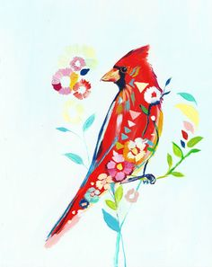 "Pretty. You don't even have to ""put a bird on it."" it's already a bird. www.paintabirdaday.com"