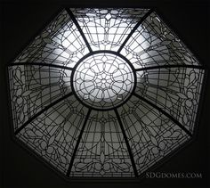 Leaded Glass Dome: Octagon Shape by The Solarium Design Group Ltd.  See more leaded and stained glass domes, here www.sdgdomes.com