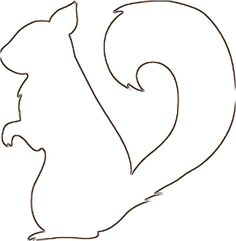 Squirrel pattern. Use the printable outline for crafts, creating