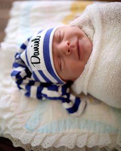 Baby Name Hat Baby Knot Hat Newborn Hat Newborn by LilLizaJanes