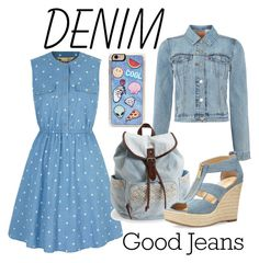 """""""Denim"""" by hesterstan ❤ liked on Polyvore featuring Yumi, Levi's, Zero Gravity, Aéropostale, MICHAEL Michael Kors and Denimondenim"""