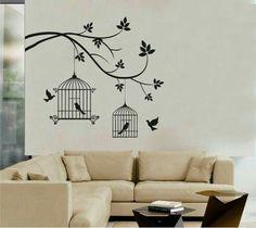 Simple Wall Paintings, Creative Wall Painting, Wall Painting Decor, Creative Walls, Diy Wall Art, Bedroom Wall Designs, Wall Art Designs, Paint Designs, Mural Art