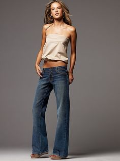 Boyfriend Bootcut Jean - wish I looked like that!!!  Love the jeans tho