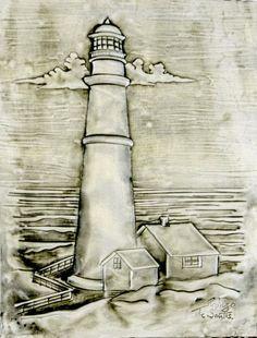 ArteyMetal: Placa decorativa. Faro 03