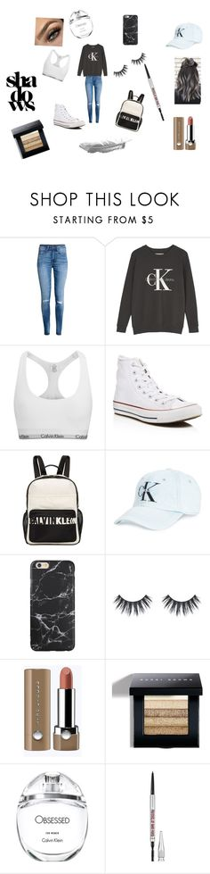 """#wednesday"" by kennwalsh ❤ liked on Polyvore featuring H&M, Calvin Klein, Converse, Calvin Klein Jeans, Bobbi Brown Cosmetics and Benefit"