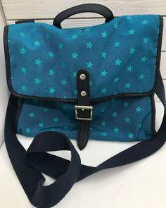 d63c8361b0 Fossil Crossbody Canvas Bag Teal Blue Stars Adjustable Strap Long Live  Vintage  Fossil  Crossbody. Hope Faith · Purses Handbags Wallets