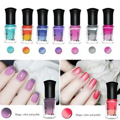 6ml Color Changing Thermal Nail Polish Peel Off Nail Art Varnish Decor Reliable #Unbranded