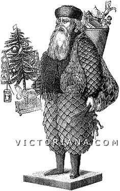 How To Make A Holiday Santa - Victoriana Magazine - this is a great site that has lots of info on the history of Christmas, including how trees and homes were decorated, gifts that were given, foods that were served, etc.