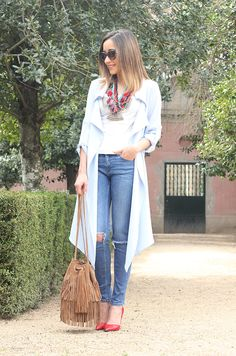 Light Blue Trench | BeSugarandSpice - Fashion Blog