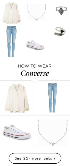 """""""Untitled #225"""" by ej0337005 on Polyvore featuring The Row, AG Adriano Goldschmied, Converse and Minnie Grace"""