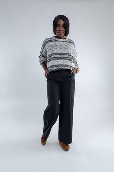 9c6cb714 Black wide trousers, Women's flared pants, Black capri pants, Vintage wide  black pantalon, Ladies 90s Wide leg highwaisted trousers, Size S