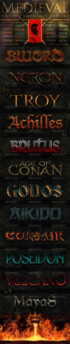 Medieval Photoshop Text Effects 1 of 2 - GraphicRiver Item for Sale