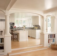 Love the columns and openness