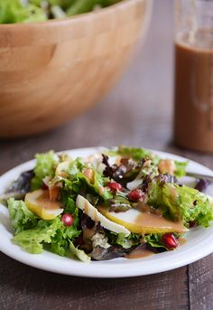 Autumn Pear Salad with Maple Balsamic Dressing   Mel's Kitchen Cafe