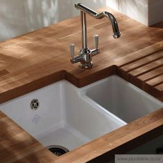 Classic Brindle Double Sink - Inset & Undermount Sinks - Butler Sinks - Kitchen