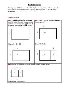Worksheets Area Model Worksheets pinterest the worlds catalog of ideas this gives a step by to using area model for division