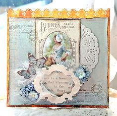 Anne's paper fun: Vintage Cafe Card Challenge