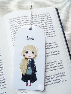Zakładka do książki- Luna - tojkocarre - Zakładki do książek z papieru Diy And Crafts, Drawings, Cover, Illustration, Books, Etsy, Life, Art, Paper