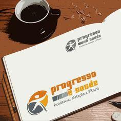 Criação de logotipo para Academia Progresso e Saúde por Foco Design & Gráfica.