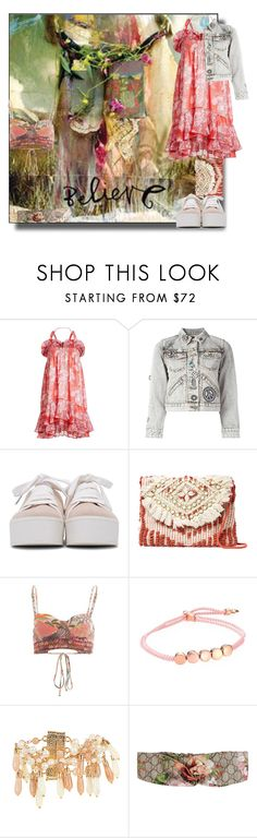 """""""California dreaming...."""" by sue-mes ❤ liked on Polyvore featuring Carven, Marc Jacobs, Opening Ceremony, Antik Batik, Maaji, Monica Vinader, Rosantica and Gucci"""