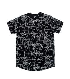 HUSTLE GANG MENS GLOBAL TEE Black