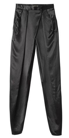 Un sarouel noir Pantalon sarouel en soie, 79.99 €. H&M BALMAIN