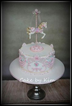 A carousel cake for a Mary Poppins party.