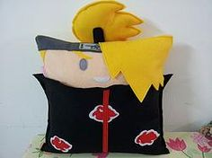 Handmade Anime Naruto Deidara Fan Art Plush Pillow | #manga #otaku #japan #japanese #kawaii #comics #animation #fandom #gift #toy #doll | http://www.rbitencourtusa.com/#!product/prd1/2696434501/handmade-anime-naruto-deidara-pillow