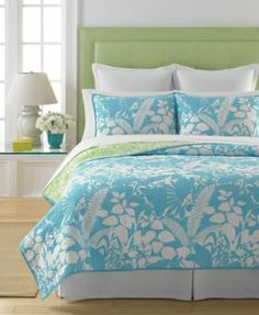 Martha Stewart Collection Paradise Palm Twin Quilt
