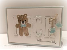 Stampin' Up! - Colors & Paper - Babykarte