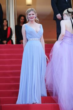 Kirsten Dunst in Schiaparelli Fall 2017 Couture attends the 'The Beguiled' screening during the 70th annual Cannes Film Festival at Palais des Festivals on May 24 2017...
