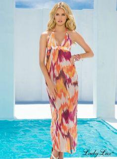 Sweet Talker Maxi Dress by Lady Lux® #maxidress #ladylux #designerapparel #sweettalker #coverup #luxuryswimwear