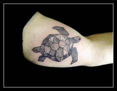 geometric turtle tattoo - Google Search