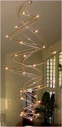 Cirrus Sculptural Steel Chandelier by Jessica K Bodner Stairwell Chandelier, Foyer Lighting, Industrial Lighting, Industrial Design, Lighting Design, Wrought Iron, Design Inspiration, House Design, Ceiling Lights