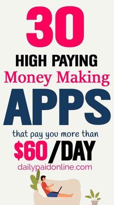 Best Money Making Apps, Make Quick Money, Make Money Today, Make Money Blogging, Way To Make Money, Get Money Fast, Making Money From Home, Earning Money, Online Earning