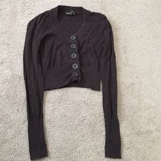 Used Short Brown Forever Twenty One Crop Sweater Used Brown Short Crop Button Up Long Sleeve Cardigan With Diamond Pattern. Forever Twenty One Sweaters Cardigans
