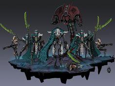 Warhammer Fantasy and art. Warhammer 40k Necrons, Warhammer 40k Miniatures, Warhammer Fantasy, Star Wars Concept Art, Robot Concept Art, Armor Concept, Star Wars Droids, Star Wars Rpg, Tecno